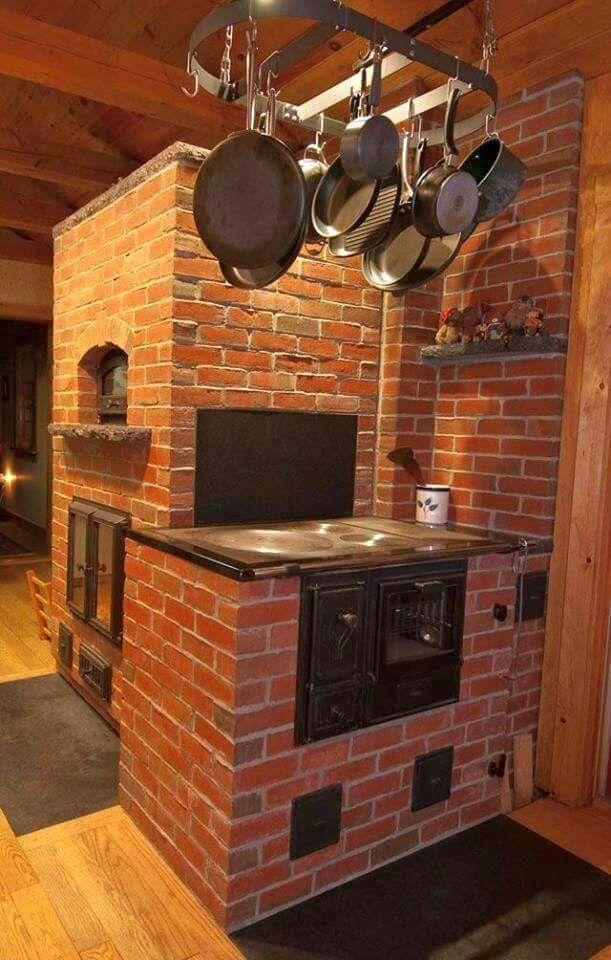 Thermal Mass Farm House Kitchen Wood Stove Home