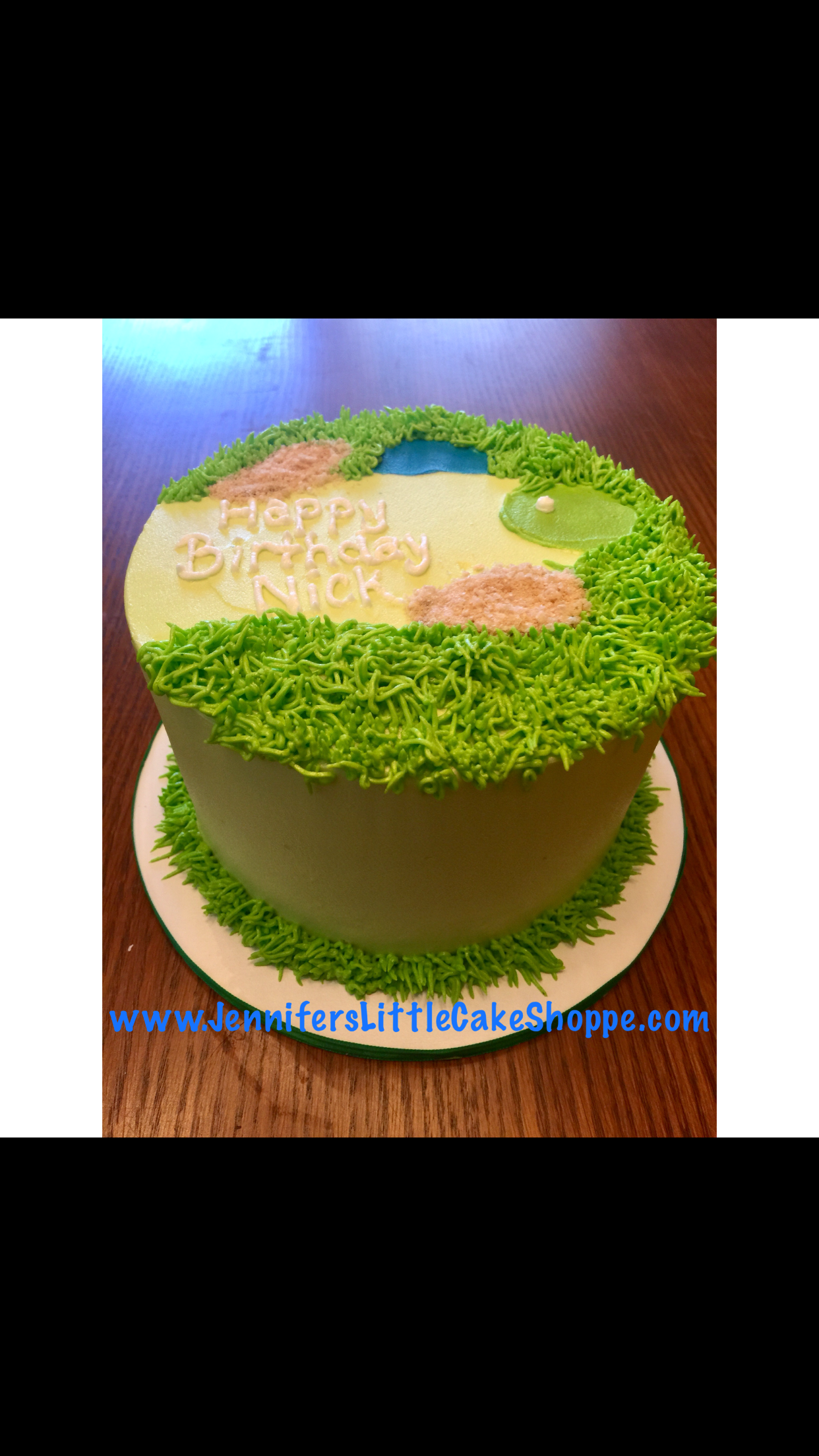 Golf Birthday Cake In Buttercream Icing From Jennifers Little Cake