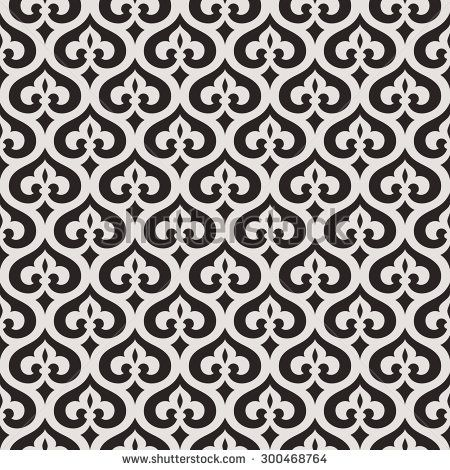 Seamless Abstract Floral Pattern Decorative Lattice In The Moroccan