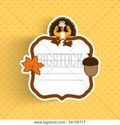 Happy Thanksgiving Day greeting or invitation card with maple leave turkey bird Happy Thanksgiving Day greeting or invitation card with maple leave turkey bird