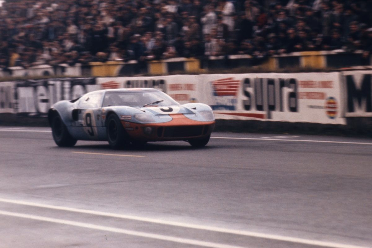 Ford Gt40 1075 At The 1968 Running Of The 24 Hours Of Le Mans