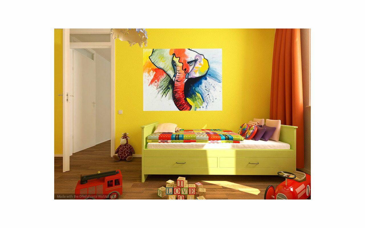 Elephant Painting, Elephant Art, Home Decor, Animal Decor, Nursery ...