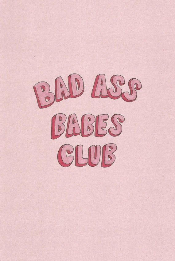 Bad Ass Babes Club - Girls Room - Hand drawn - A4 - Illustration - Print - Make A Wish donation