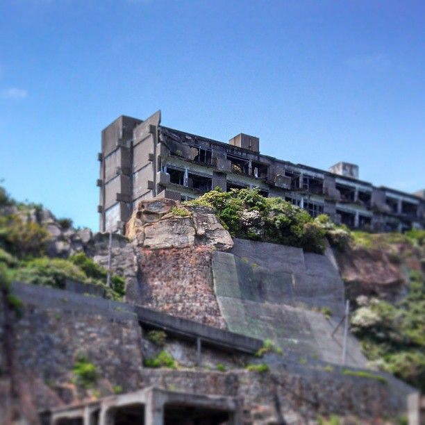 Hashima Island, Abandoned Mining Island In Japan.