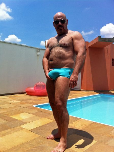 Sexy Mature Men Sexy Mature Hairy Bear Pool Daddy