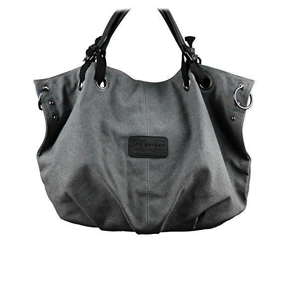 aabf6bab60313 Canvas Tasche Shopper Umhängetasche Damentasche Handtasche aus  Baumwollstoff Bag Street - präsentiert von becoda24 in versch