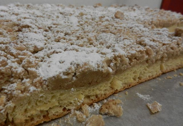 Crumb Cake from Carlos Bakery - pretty much the best thing in the history of ever.