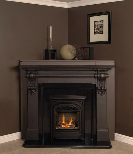 Corner fireplace mantels wood fires of tradition for Building a corner fireplace