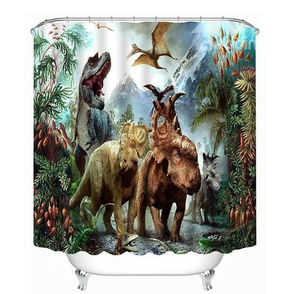 Beddington Com Dinosaur Mural Traditional Design Living Room