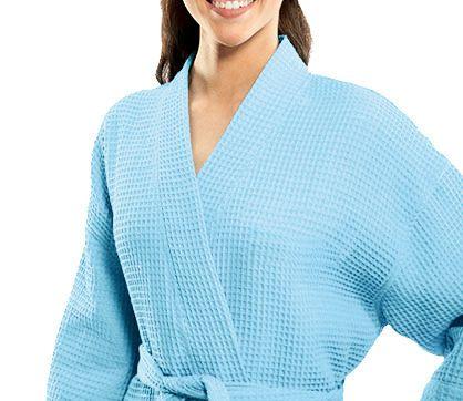 Waffle Weave Spa Bath Robe Bathrobe made of %100 cotton.  0bf40f651