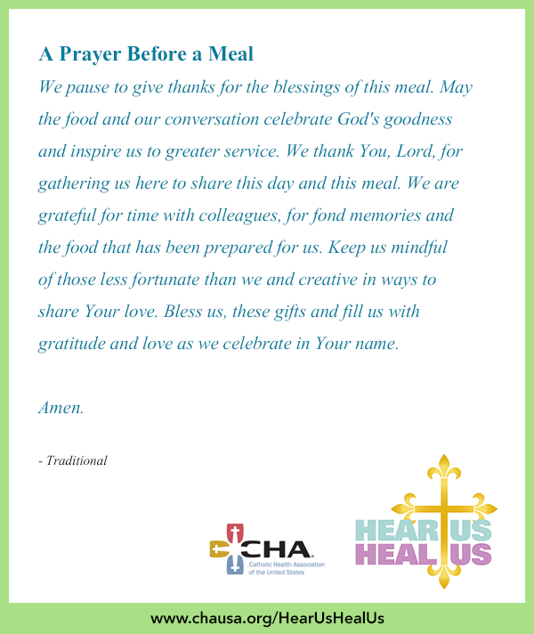 A Prayer Before Meal Hearushealus