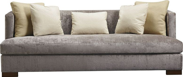 A Modern Tuxedo Style Sofa With Loose Seat And Loose Back Cushions