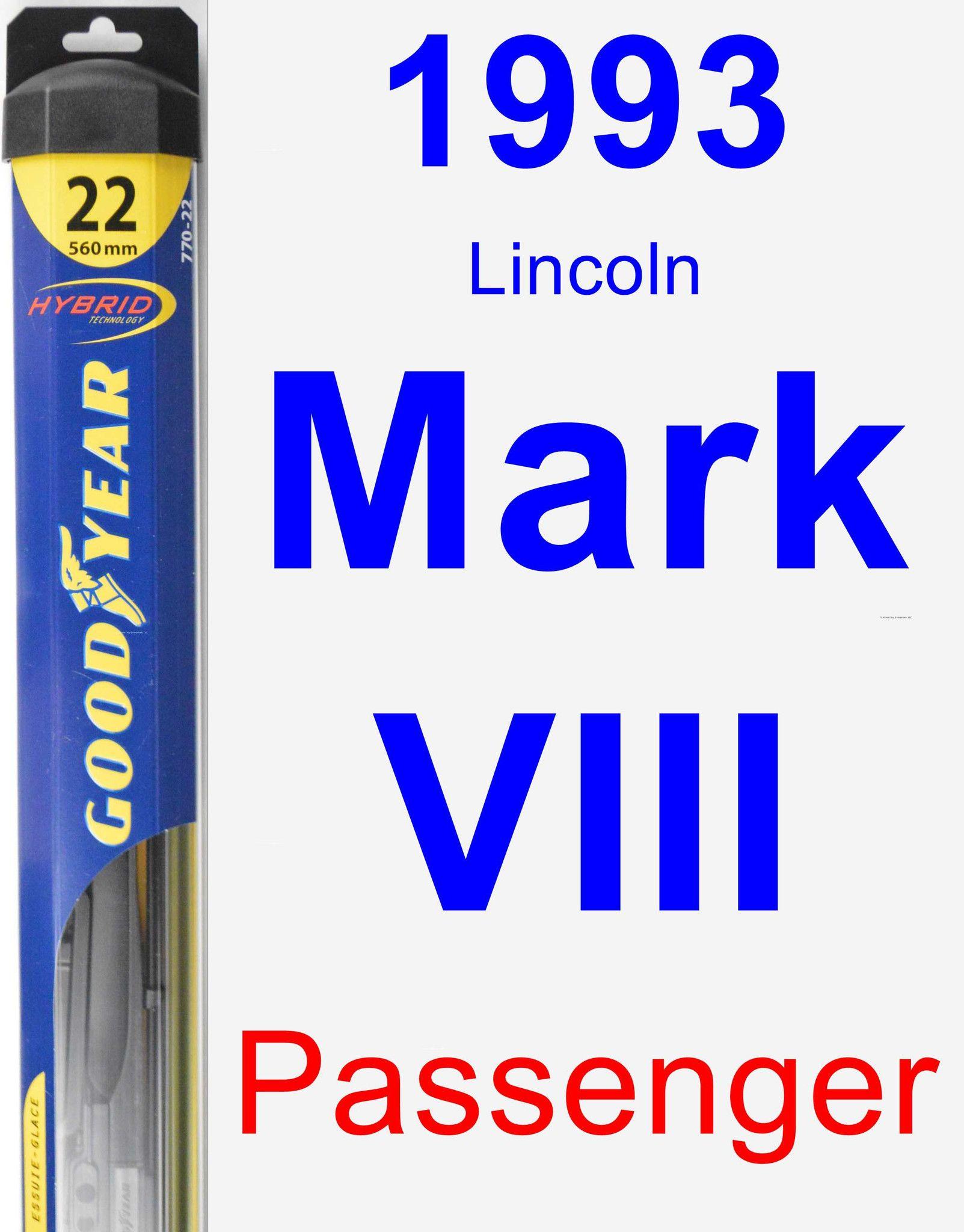 Passenger Wiper Blade for 1993 Lincoln Mark VIII - Hybrid