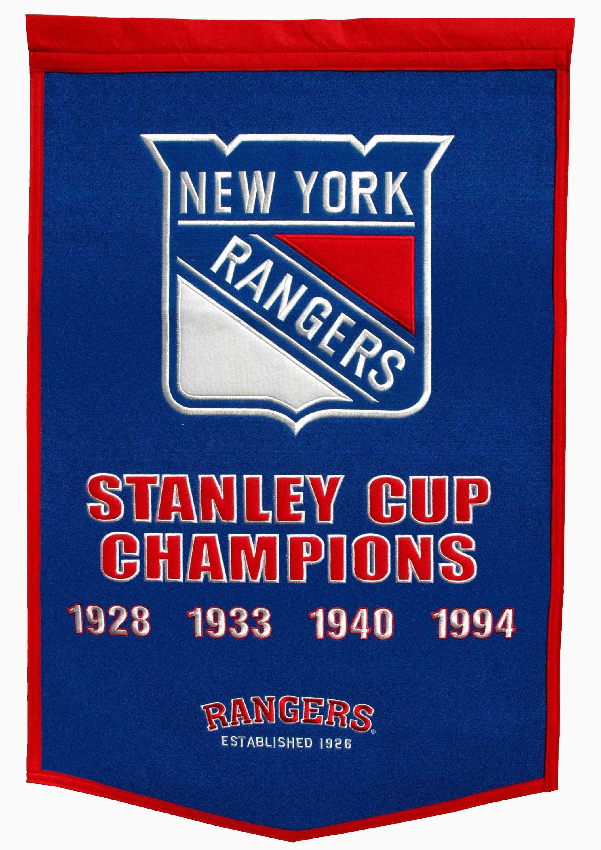NY Rangers Stanley Cup Champions Banner  fafcc1fa4