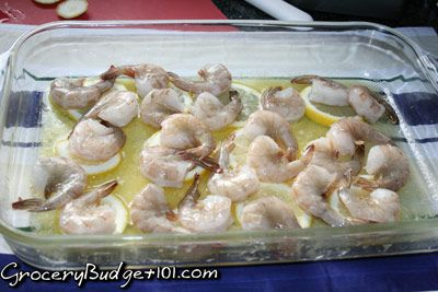 GroceryBudget101.com- - Roasted Lemon Garlic & Herb Shrimp Scampi