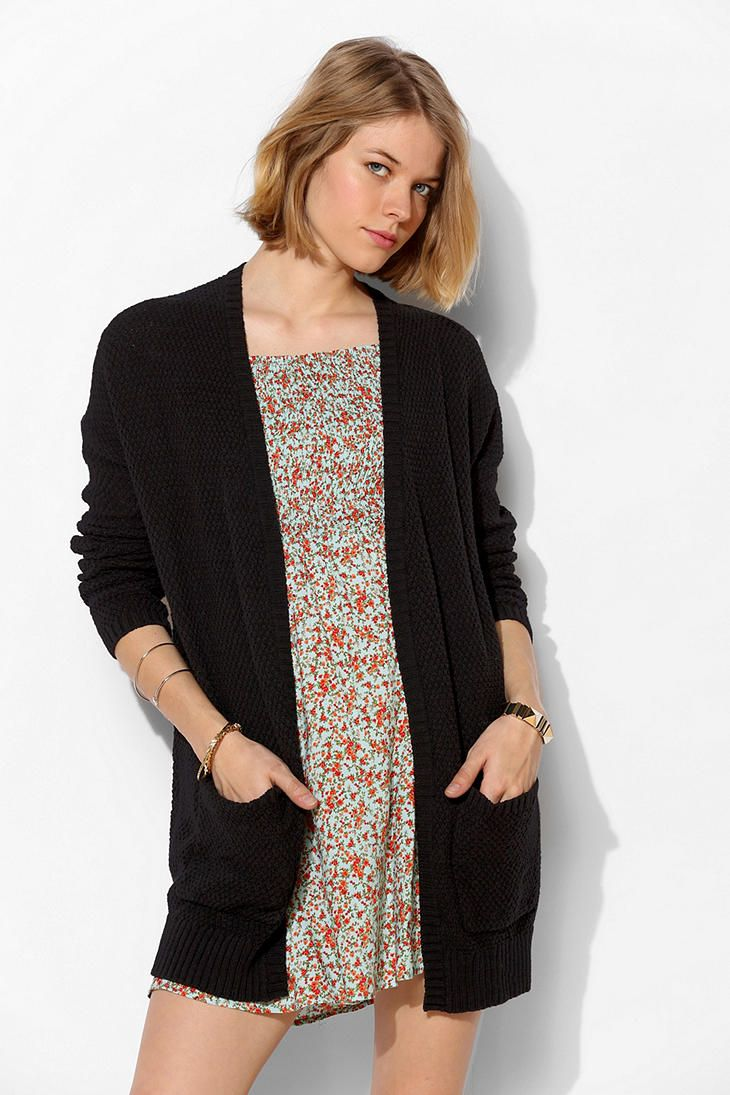 BDG Roll-Sleeve Cardigan - Urban Outfitters