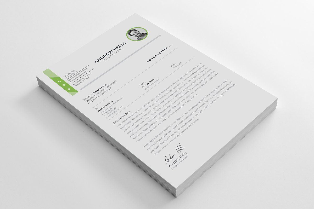Ad Professional Word Resume Cv Template By Generousart On