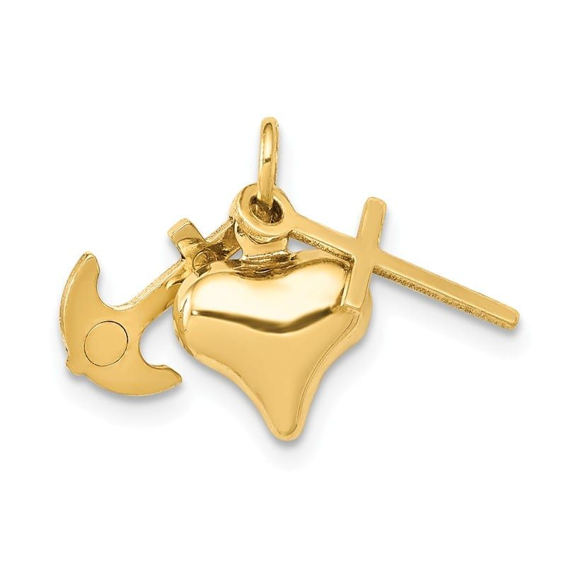 .925 Sterling Silver /& Vermeil INRI Crucifix Charm Pendant