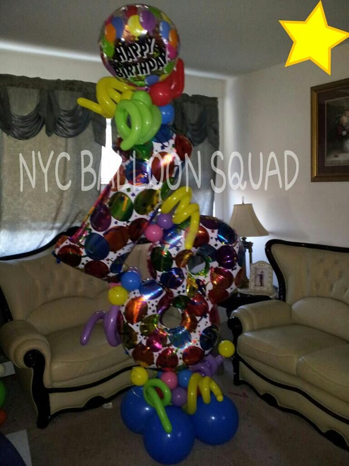 18th Birthday Balloon Design Interested Check Us Out On FaceBook NYC Squad