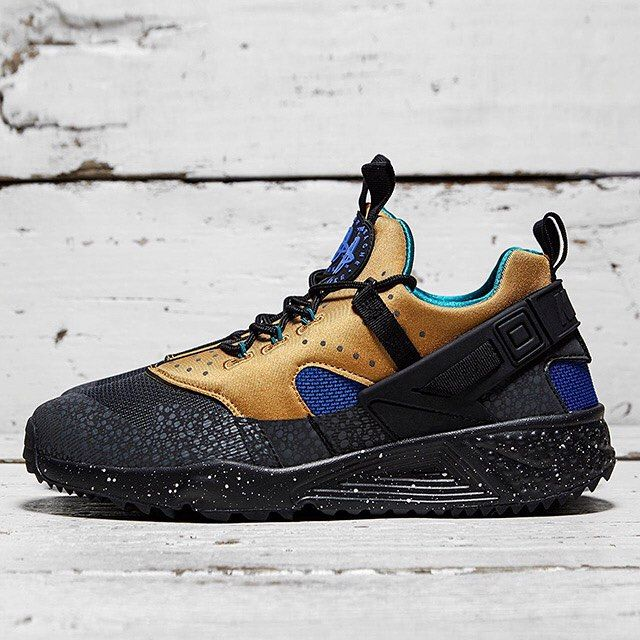 premium selection 83e03 585af ... france nike air huarache utility acg tan and blue after dropping a  berry gray colorway of