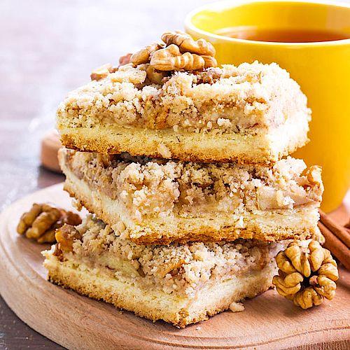 Low Carb Apfel-Walnuss-Streuselkuchen - Rezept ohne Zucker
