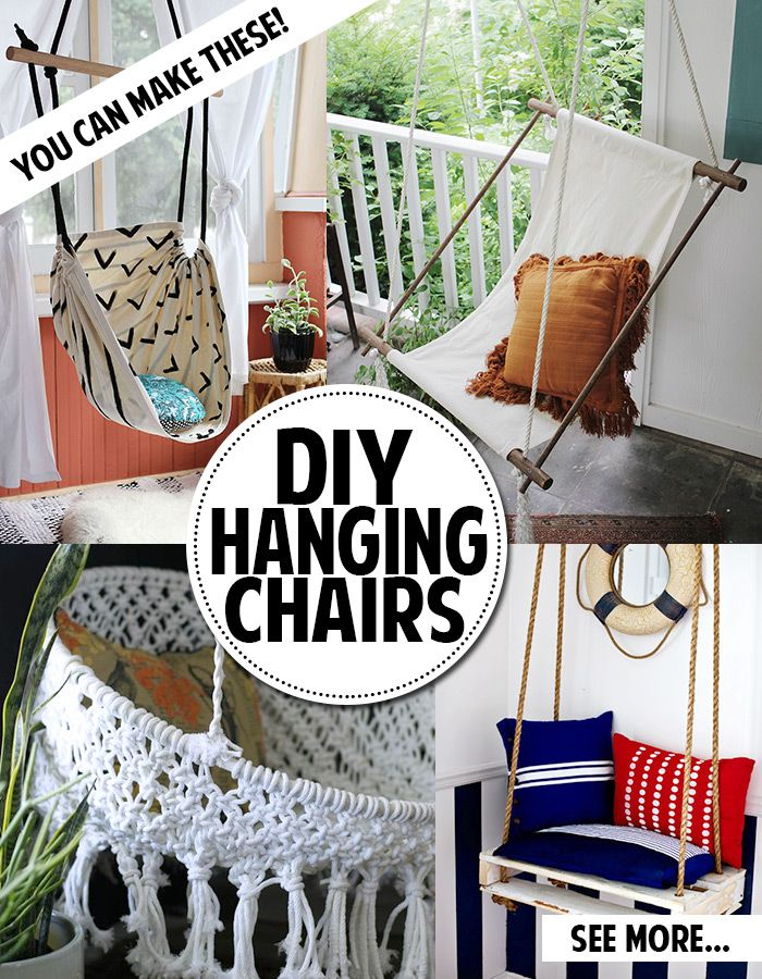 you can make a hanging chair  diy hammockhomemade     you can make a hanging chair    need   pinterest   hanging chair      rh   pinterest