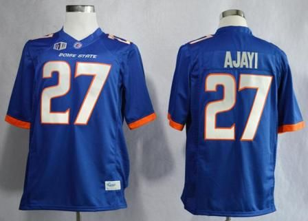 big sale dffd9 1a9d4 Boise State Broncos 27 Jay Ajayi Blue College Football NCAA ...