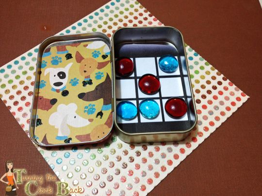 Altoids tin projects tic tac toe travel game magnets for Tin projects