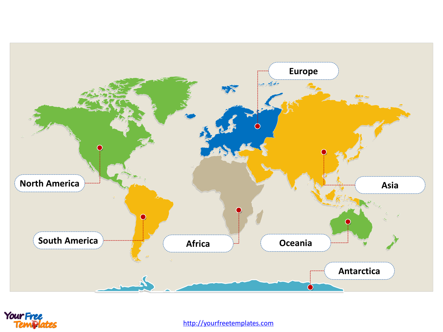 Immediately Free Download World Map With Continents Blank