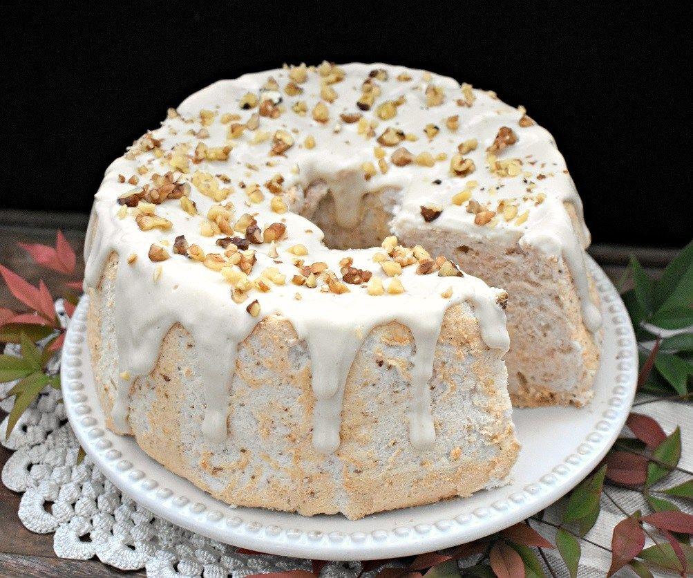 Maple walnut angel food cake thms sf gf keto recipe