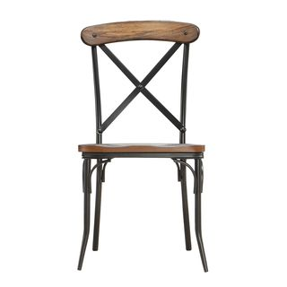 Modern Rustic Chairs nelson industrial modern rustic cross back dining chair (set of 2