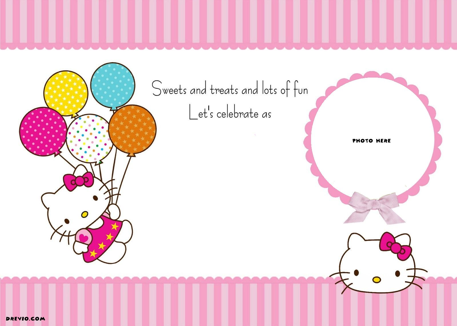 free printable hello kitty birthday party invitations mga pwedeng