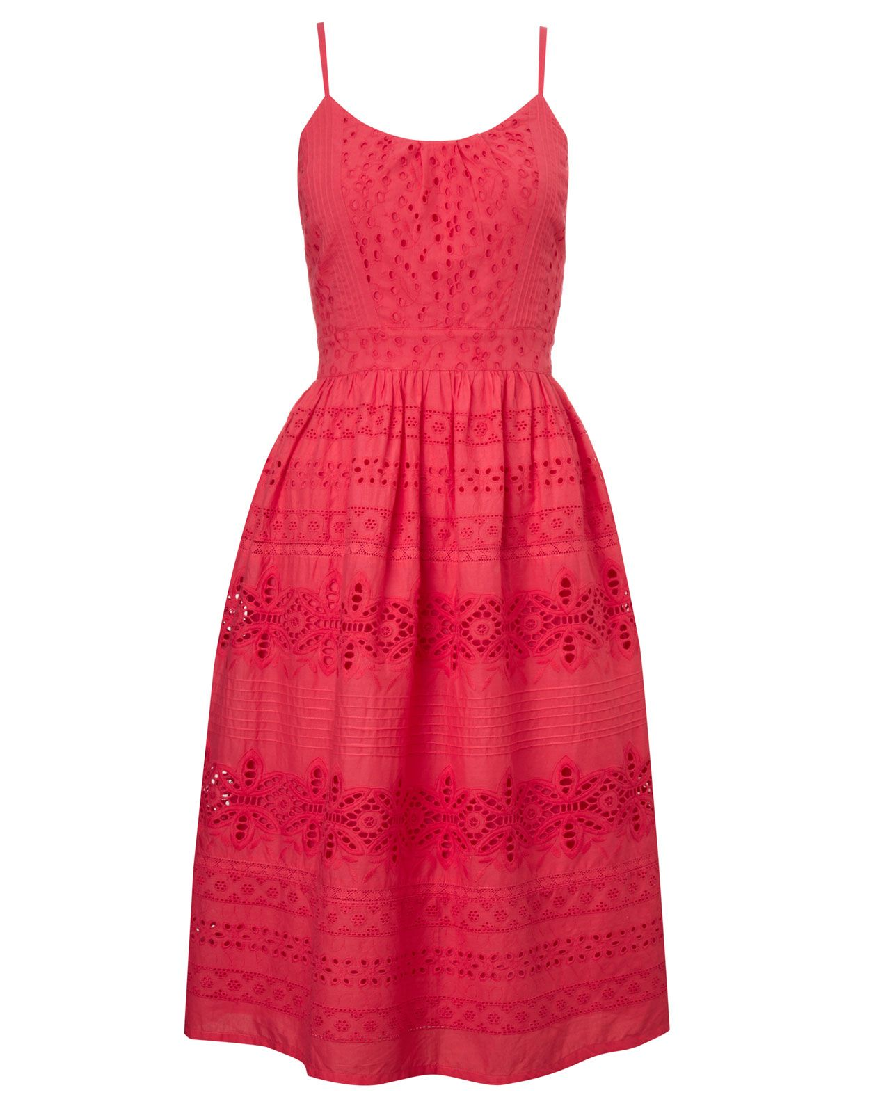 Sophia Cutwork Dress | Pink | Monsoon