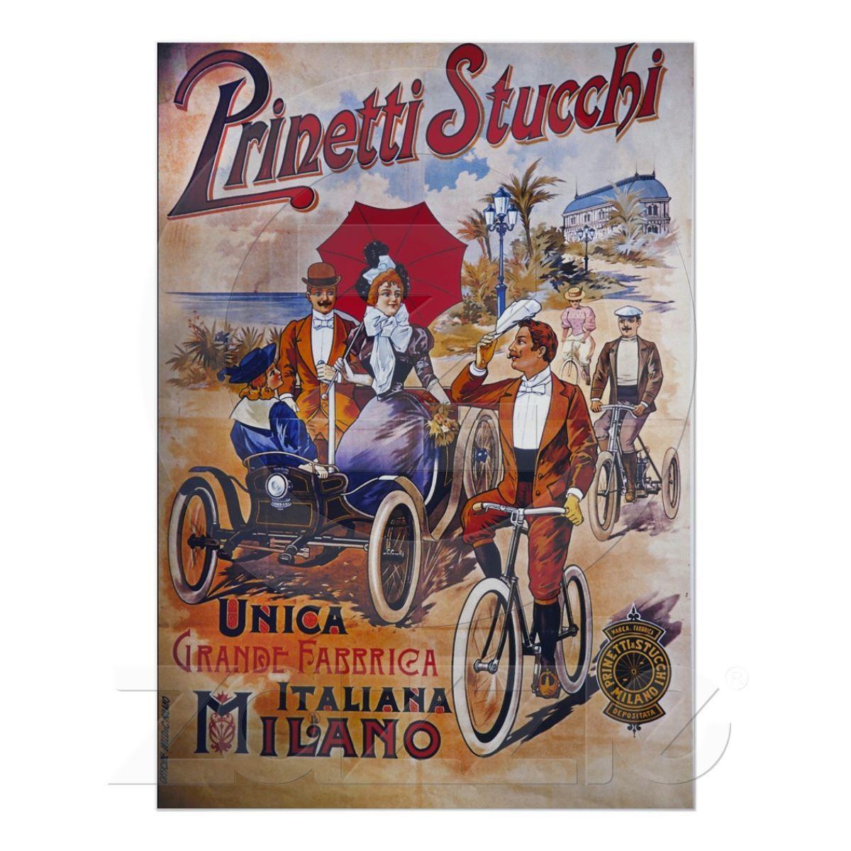 Vintagecykelaffisch, italienare, Prinetti Stucchi från Zazzle.se