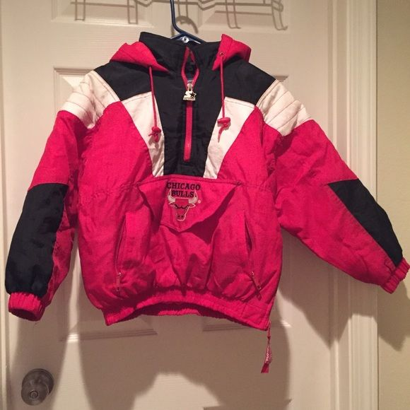 ff7a7173d36 Vintage Chicago Bulls Starter Pullover Vintage Chicago Starter Rain Pullover  // boys small // excellent condition Jackets & Coats Puffers
