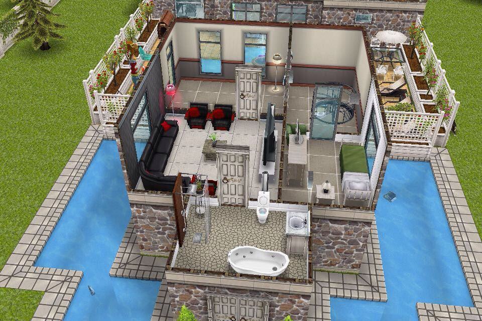 House 3 / 1st building / 2nd floor plan | Sims freeplay - house ...