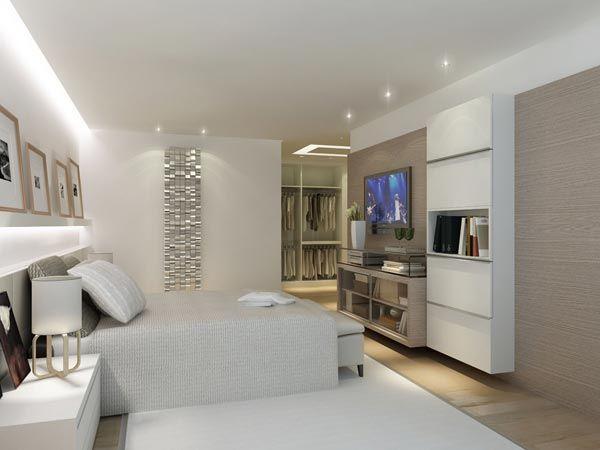 Foto de habitaci n moderna habitaciones pinterest for Closet para cuartos matrimoniales