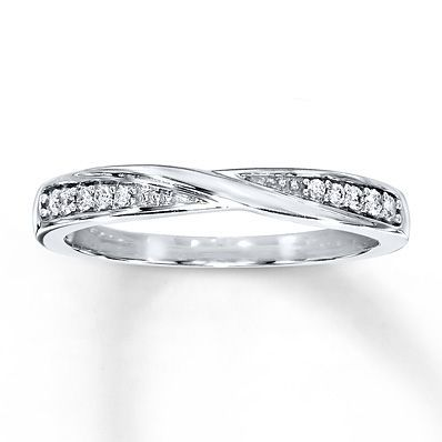 Diamond Wedding Band 1/15 ct tw Round-cut 10K White Gold- possible wedding band?