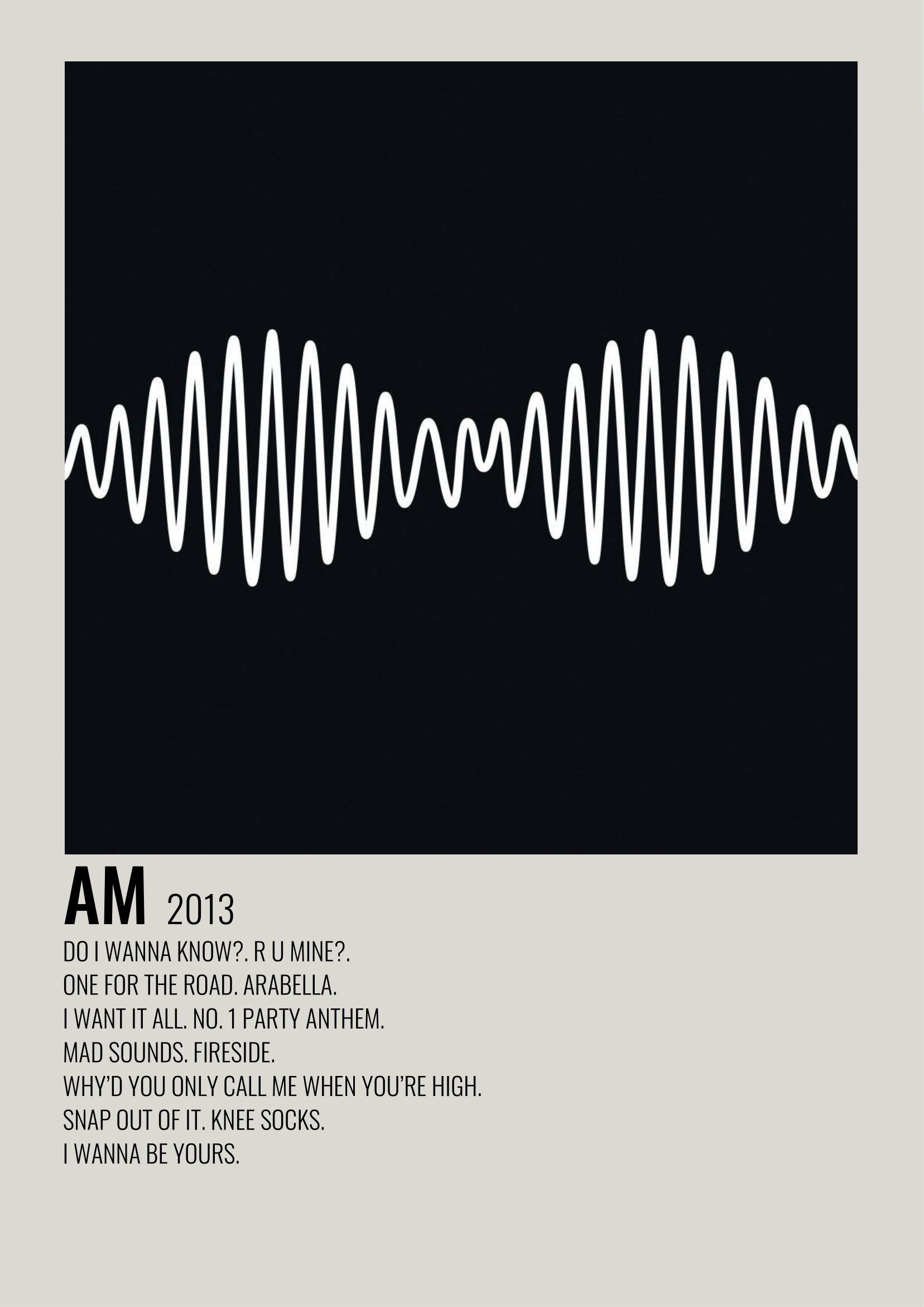 arctic monkeys am music poster