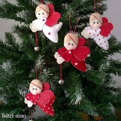 Regali Di Natale In Feltro Fai Da Te.Angeli Feltro Fai Da Te Angels Angeli Di Natale Natale E