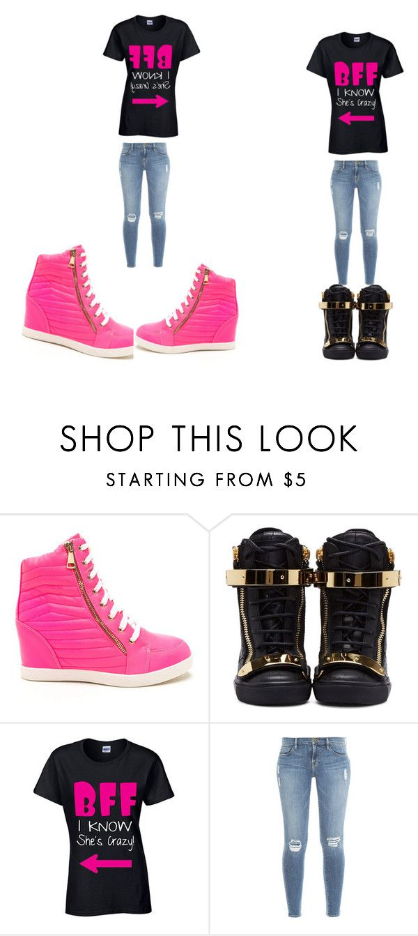 """crappy"" by queenbrem on Polyvore featuring Giuseppe Zanotti and Frame Denim"