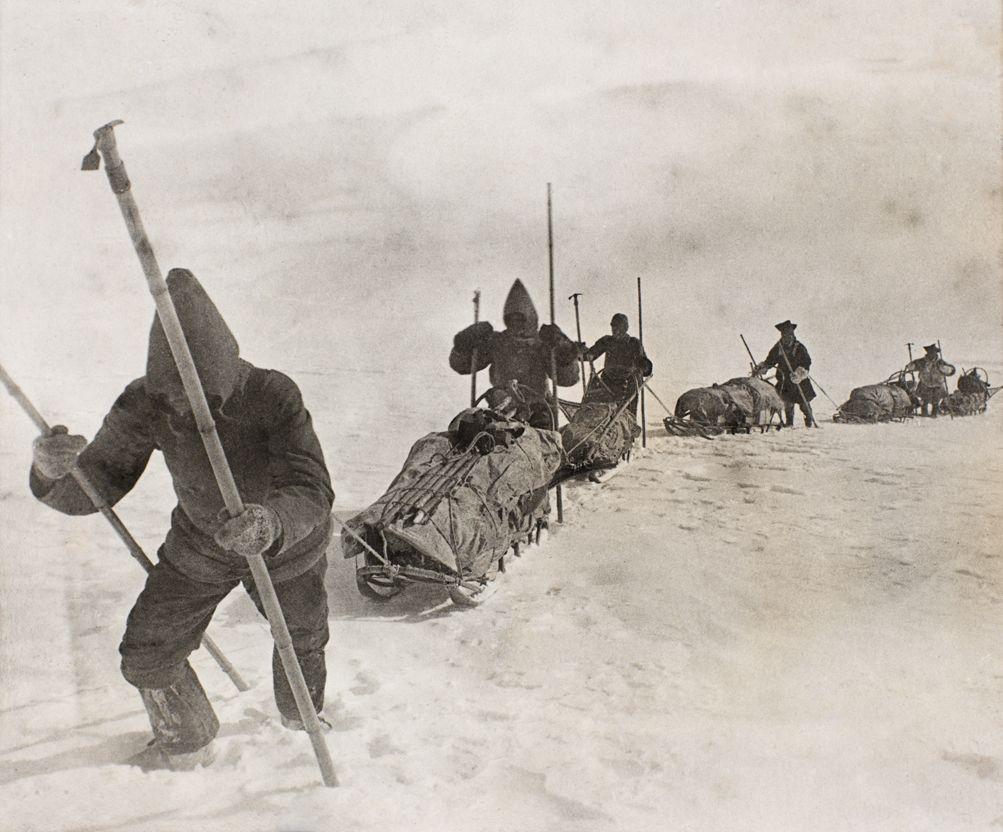 Marche à travers l'inslandis par Nansen, 1888