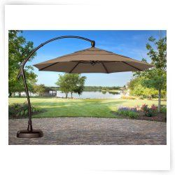 Treasure Garden 11 Ft Cantilever Offset Patio Umbrella With Base Large Patio Umbrellas Patio Umbrella Patio