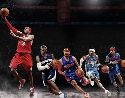 Allen Iverson Wallpaper On Behance Allen Iverson Allen