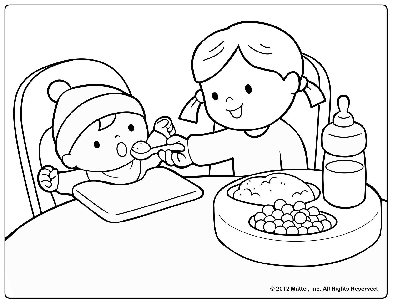 Coloring Page For Baby Unit