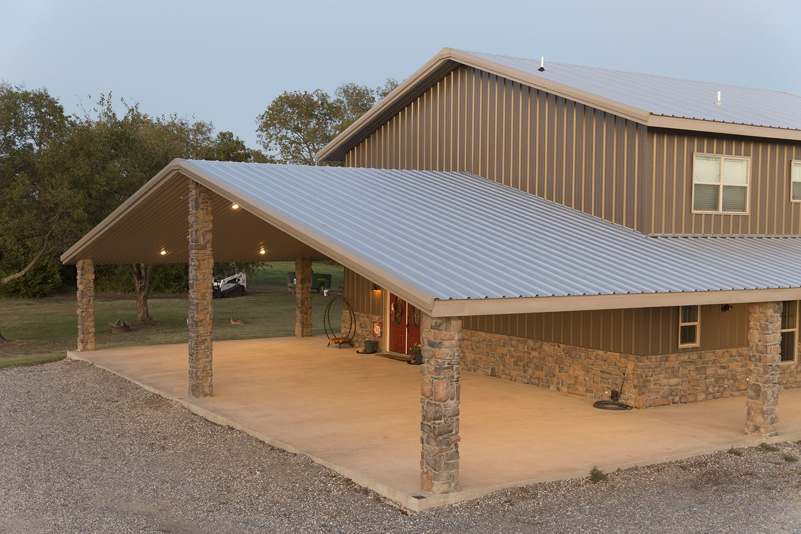 Steel Building Gallery - Category: Custom Building_63 - Image: Custom  Building 63_1 | Mueller Inc | Barn style house, Steel building homes, Metal  building designs