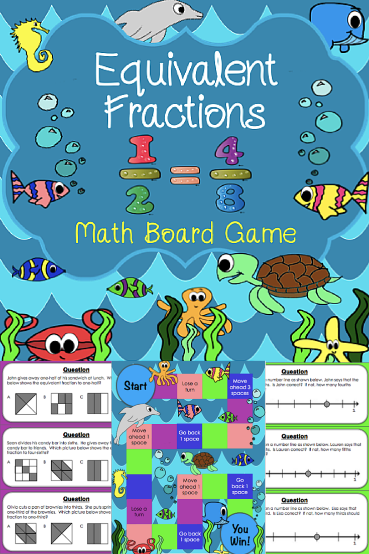 Equivalent Fractions Game {3.NF.3, 3.NF.3A, 3.NF.3B, 3.NF.3C ...