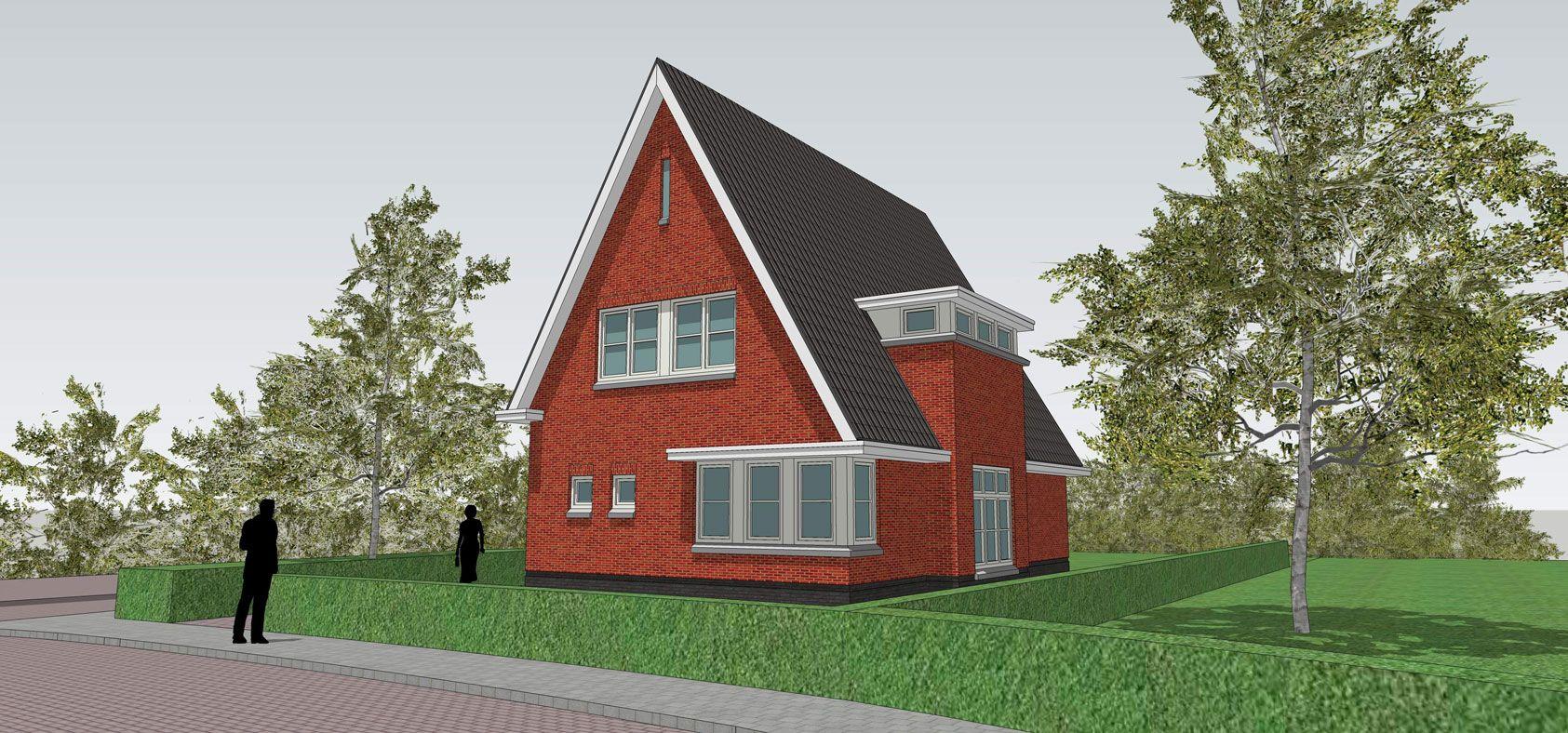 Dertiger jaren villa met hoekkozijnen en asymmetrische opzet in de ...
