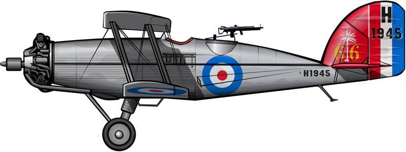 Un Wapiti de la Fuerza Aérea Británica dedicada al control aéreo de Mesopotamia hacia 1930