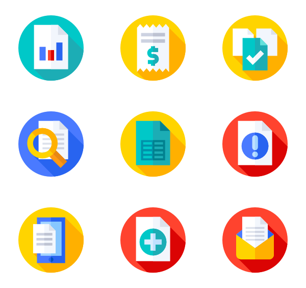 Flat Circular Icon Style Flat 35 886 Vector Icons Available In Svg Eps Png Psd Files And Icon Font In 2020 Icon Files Icon Office Icon